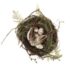 New Hot Sale Bird Nest Simulation Faux Moss Plastic Home Craft Holiday Decor The bird's Nest 11cm Ornaments Wedding Party Favor