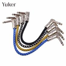 1Pcs 27.5cm Electric Bass Guitar Effect Pedal Patch Connect Cable Wire Cord Plug Audio AMP String Color Random(China)