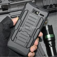 Full Black Hybrid Protective Armor Stand Case Cover Holster With Belt Clip For Motorola Droid Razr M/I XT907 XT890(China)