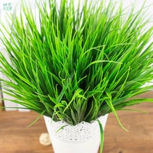 1 branch/bag Artificial Plants Green Grass For Plastic Flowers Household Store Dest Rustic Decoration Clover Plant