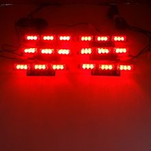 Six Colors DC 12V Emergency New Car Truck 54 LED (6x9led) ambulance Strobe warning flashing Light for All automobiles