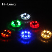 Hi-Lumix 6leds Floating Pond Light Solar IP68 Waterproof Underground LED Outdoor Pond Swimming Pool Garden decorative light(China)