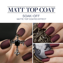 Modelones Hot Matte Top Coat UV Nail Gel Long Lasting Gel Polish Matt Matte Coat Nail Gel Polish DIY Nail Art Style Gel Top Coat