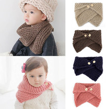 Unisex Autumn Winter Baby Toddler Bibs Children's Knitted Crochet Scarf Shawl Warm Knit Scarf For Boys Girls 0-4Y Christmas Gift(China)