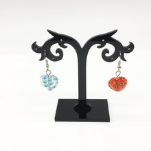YEACI 10Pcs/Lot 80 * 80mm Earrings Acrylic display stand wheat-shaped jewelry display black Z-052