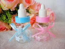 Hot Sale Freeshipping 48 pcs/lot Wedding Favors Baby Feeding Bottle Wedding Candy Box Wedding Party Baby Shower Favor Boxes