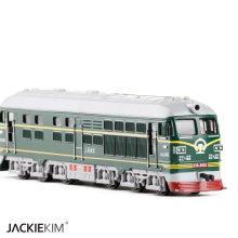 High Simulation 1:87 Alloy Train Model Toy Diesel locomotive Internal-combustion locomotive Model Of Acousto-optic Kids Toy(China)
