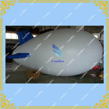 4m/13ft White Inflatable Advertising Airship Inflatable Zeppelin for Different Events(China)