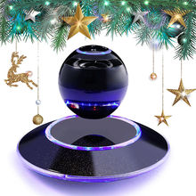 Wireless Bluetooth 4.0 Speaker Portable Magnetic Levitation Floating 3D Stereo USB Charge Subwoofer Speaker with LED Light(China)