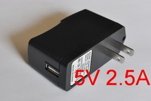High quality IC program 1PCS 5V 2.5A US plug USB Charger Power Adapter with USB Charger for Tablet PC+Free shipping