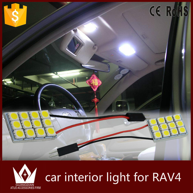 Guang Dian car light led Interior lamp Roof bulb Dome Panel Reading Trunk indoor led T10 Festoon car accessories 5050 for RAV4<br><br>Aliexpress