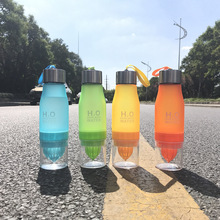 New Xmas Gift 650ml My Water Bottle plastic Fruit infusion bottle Infuser Drink Outdoor Sports Juice lemon Portable Water kettle