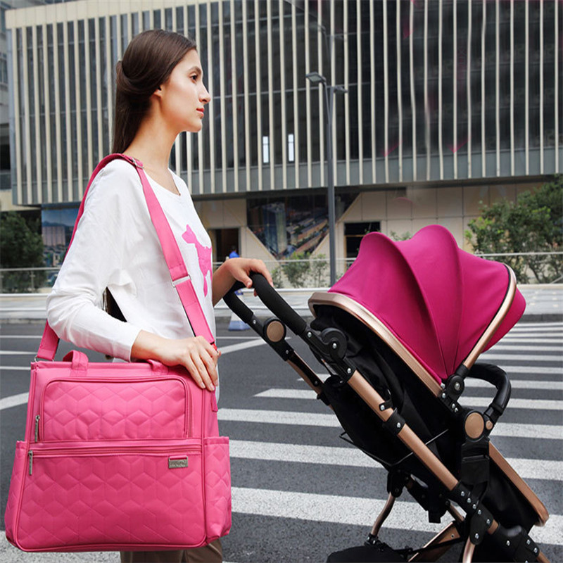1 PCS Multifunctional Mother Messenger Bag Waterproof Maternity Tote Nappy Bags For Baby Outdoor Nappy Changing Baby care<br>