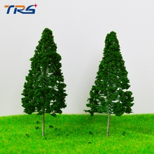 20X Ho Railway Scenery Layout 80mm Iron Wire Model Tower Pine Tree Miniature Model Scale Tree(China)