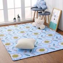 Sunflowers tatami mat 200*210cm ,quilted 100% cotton environmental ground mat for living room , yoga mat,baby crawls cushion(China)