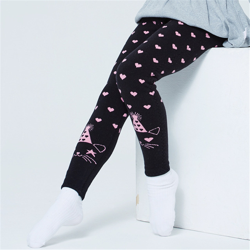 Lined Trousers Pants Leggings Slim Kids Girls Winter Solid Thermal Thick Skinny
