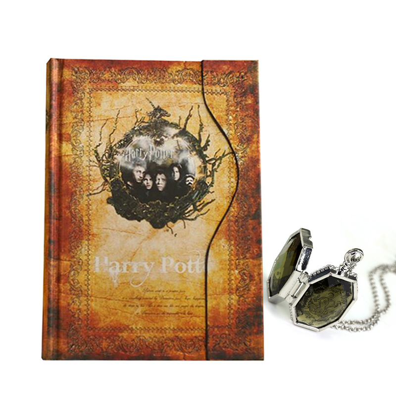 Stationery Set Hard Cover For Potterhead Harry Potter Notebook Book Pendant Vintage Retro Diary Magnet Magical