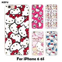 Soft silicone TPU for coque iPhone 6 case 6 6S Hello kitty cover 2016 new arrivals for fundas iPhone 6S case(China)