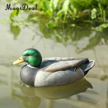 MagiDeal Lifelike Plastic Mallard Duck Decoy Texas Style Deadly Hunting Fishing Lure Drake for Garden Home Decoration Accessory(China)