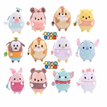 Tsum Tsum Mickey Minnie Donald Duck Daisy Stitch Chip Coin Purse Unisex Wallet Multi-functional Kawaii Bag Anime Plush Toys