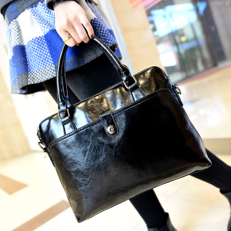 2015 new Fashion womens bags famous brand solid black handbag leather lady shoulder bags clutches diagonal mochila Casual tote<br>