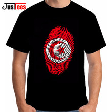 TUNISIA Tshirt Men DIY Free Custom made Tunisia flag fingerprint T Shirt nation flag tunisie islam arabic arab tunisian clothing