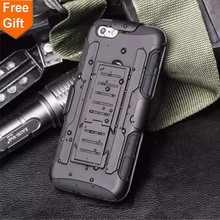 For Apple iPod touch 5 Case Soft silicone + PC 3 in 1 Heavy Duty Military Armor holster Stand Shock Proof Cover