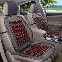 bamboo wood beads universal car seat cover 2 piece front seat cover(China)