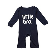 New Fashion baby jumper clothing Little Brother Letter Print Newborn Infant Jumpsuit Bodysuit Clothes Outfits bebes best love