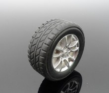 30MM toy car small rubber wheels DIY model remote control 4WD technology small production parts tire wheel(China)