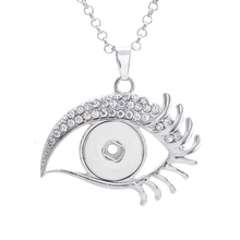 Buy Hot sale XL0010 Rhinestone Eye Metal snap Pendant necklace fit 18mm snap buttons fashion DIY Fittings snap jewelry for $1.38 in AliExpress store