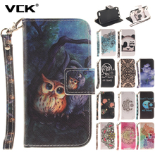 VCK For iPhone X SE 5 5S 7 6 8 6S Plus iPod Touch 5 6 Pattern Leather Case TPU Back Flip Shell Stand Wallet Bag(China)
