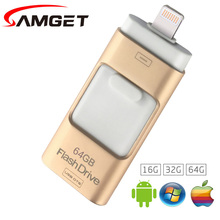 Samget EasyFlash 16GB 32GB 64GB Mini USB Metal Pen Drive OTG USB 3.0 Flash Drive For iPhone 5/6/6S Plus/7/ipad/MAC/PC/Android(China)