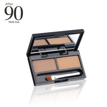 HOLD LIVE 3 Shades Natural Long Wear 2 Colors Eyebrow Powder Eyebrow Palette Cosmetic Makeup Kit With Dual-ended Brush Mirror(China)