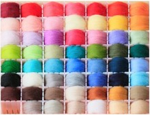 Mix 36 Colors Merino Wool Fibre Roving For Needle Felting Hand Spinning DIY Fun Doll Needlework wool,roving 5g /Bag 66s(China)