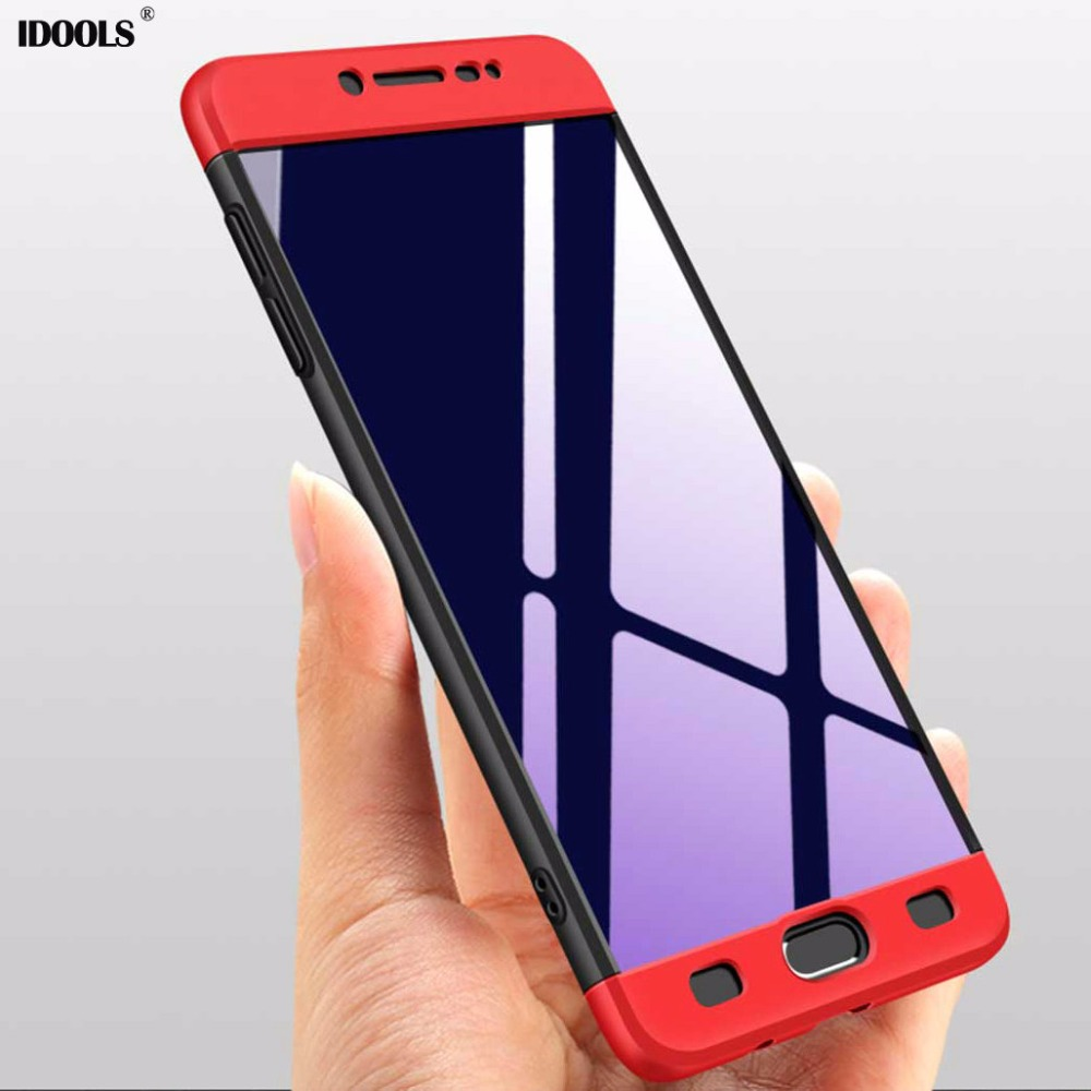 IDOOLS Case Samsung Galaxy C9 Pro C9Pro 3 1 Plastic Full Protection High Cover Bag Cases Samsung C9 Pro Coque