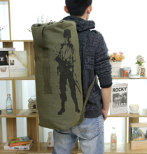 Famous Brand Men's Canvas Travel Bag Large Capacity Trip Bag Military Enthusiasts Luggage Bag Light Bagpack Male Army Backpack