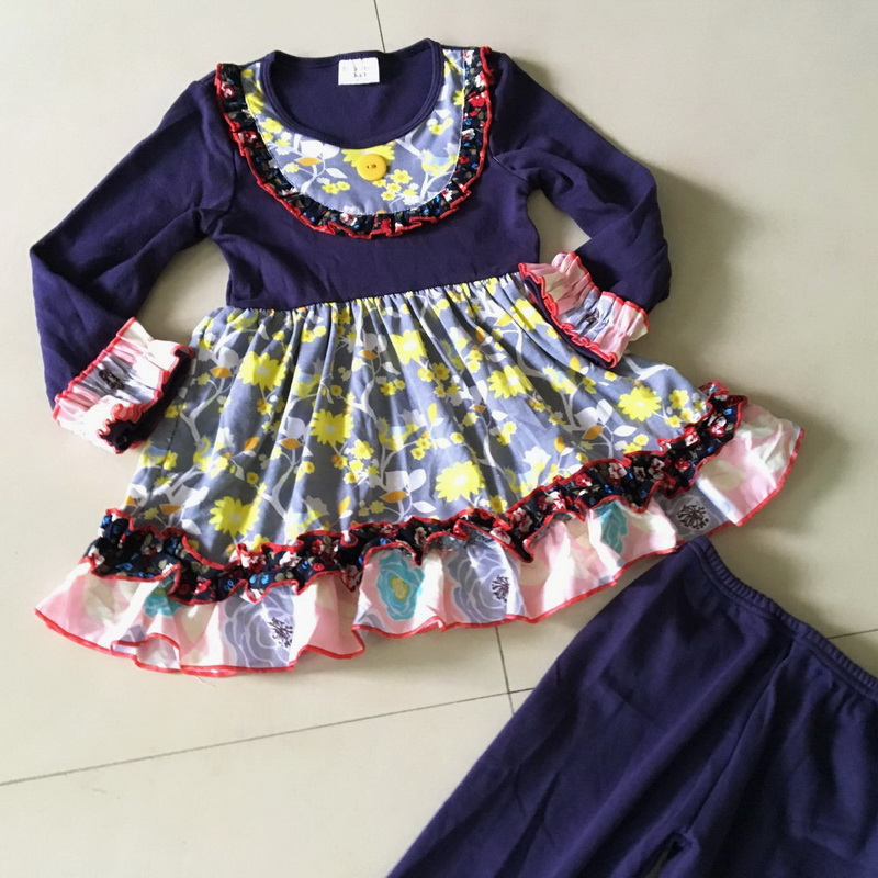 100%cotton Summer and Fall Hot novel Yiwu cloth Flower print Half sleeve style of Baby Girls Dress Apparel Accessory for present<br>