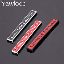 Yawlooc 1PC 3D Metal Chrome Limited Edition Car Sticker Badge Decal Auto Motorcycle Emblem Car Styling Car Accessories