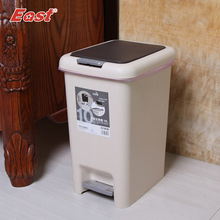 East 10L Double-Cap Dustbin Step Garbage Can Room Trash Can Waste Bins for Home cleaning ES1026(China)