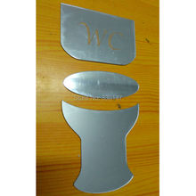 2016 Arrival WC Water Closet Sign Sticker For New House Decor Toilet Acrylic Mirror Creative Decorative 15x 7.5cm(China)