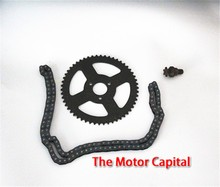 Free shipping high quality 49CC Mini Motorcycle sprocket ,T8F 43cm chain ,six gears 108 chians