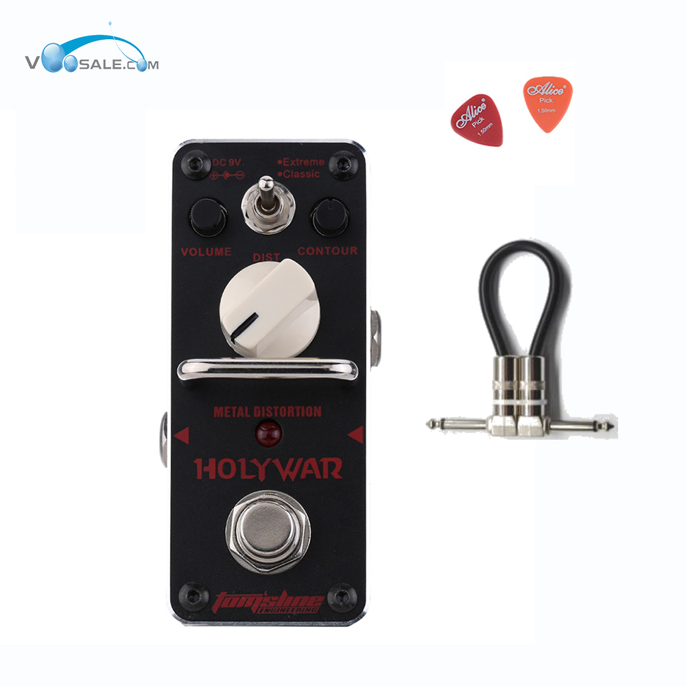AHOR-3 HOLY WAR Guitar Effect Pedal Aroma Analogue Mini Black Color Pedals With True Bypass  Guitar Accessories + Free Cable<br>