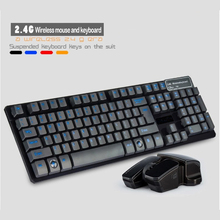 High Quality Fashion 2.4G 10M Wireless Keyboard and Mouse Combo Set Computer Accessories For Laptop PC Home Office For LOL Game