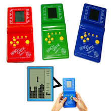 Puzzle toys Childhood Handheld Dazzling Fun Electronic Kids Toys Tetris Arcade Game Player machine intelligence development O2