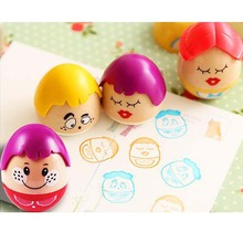 3PCS Rubber Clown Stamp Character Drawing DIY Scrapbooking Card Making Decoration Tool Kids Students Drawing Toy Gift(China)