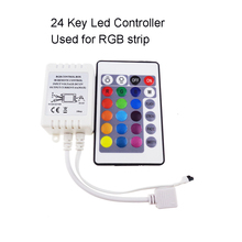 24key Led Controller dimmer with 4Pin Remote Control Box wireless DC12V 6A  for RGB led strip SR