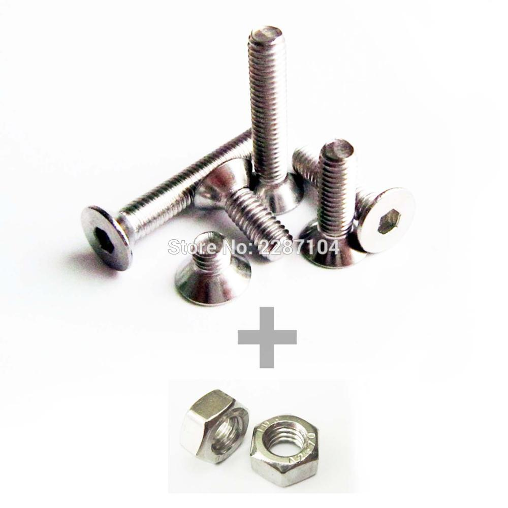 M3 A2 STAINLESS SOCKET CAP SCREWS ALLEN KEY BOLTS HEX HEAD WITH NYLOCS /& WASHERS