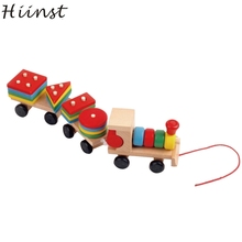 HIINST MallToy 2017 New Hot Kids Baby Developmental Toys Wooden Train Truck Set Geometric Blocks Dropship Aug28