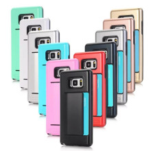 Luxury 2 In 1 Hybrid TPU + Plastic For Samsung Galaxy Note 8 S3 S4 S5 S6 S7 S8 Plus Edge Card Slot Silicon Armor Shockproof Case